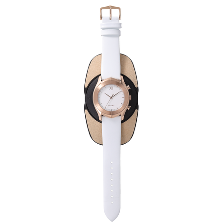 ALTAIR Series  White R - White Calf Leather Strap
