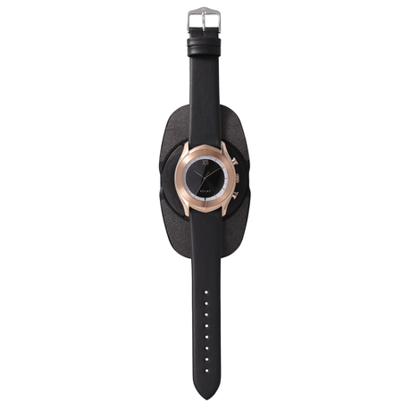 [LUXTURE] ALTAIR Series  Black R - Black Calf Leather Strap