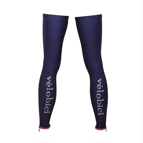Velobici Velvet Thermal Leg Warmers Ny×Sil / Velobici刺繍 ジップ サーマル レッグウォーマー(秋冬用)レッド(VB-130)