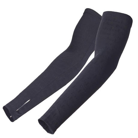 Performance Arm Warmers Black(L/長さ49cm/ワイド28cm~19cm) / アームウォーマー/黒/Lサイズ/ラスト一点(春夏用)(VB-138)