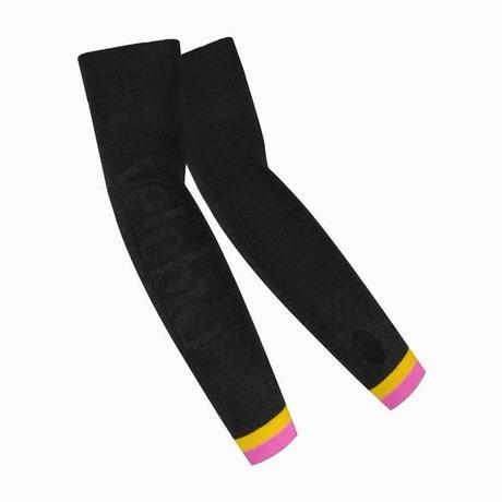 Merino Wool Arm Warmers Black/ メリノウール アームウォーマー黒 男女兼用 (VB-106)