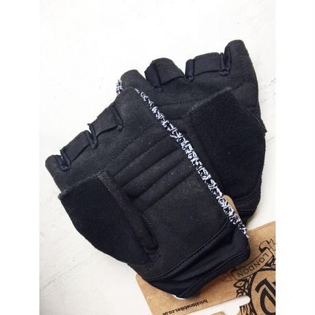 [ブリックレーンバイクス] BLB Knitメッシュサイクリンググローブホワイト×ブラック
