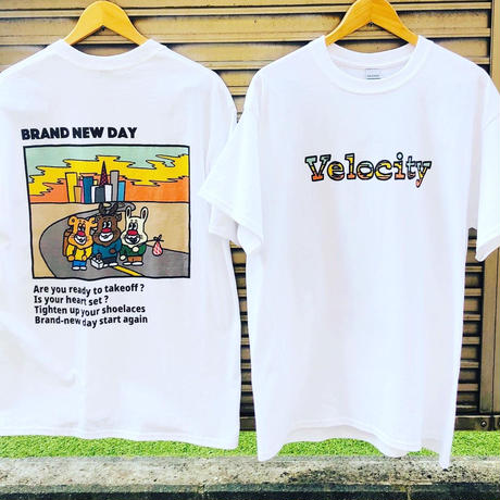 T-shirt BRAND NEW DAY front 全胸 + sticker SET