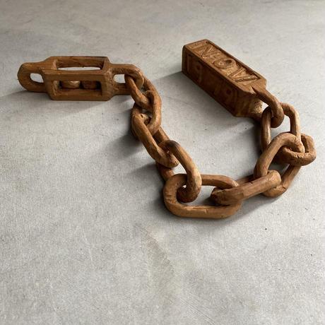 Hand Craft Wood Chain(継ぎ目なしの一刀彫りチェーン)