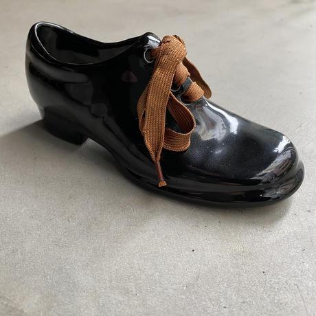 Black Ceramic Shoes(陶器でできた小さな小さな靴)