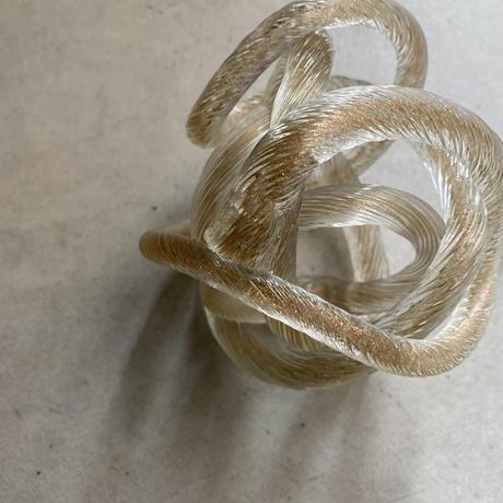 Glass Knot Clear-Gold(クルクル丸められたガラスのロープ)