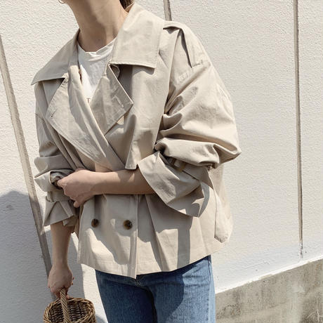 short trench jacket[baige]