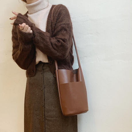 leather bucket bag[brown]