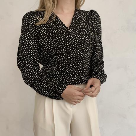 flower print blouse[black]