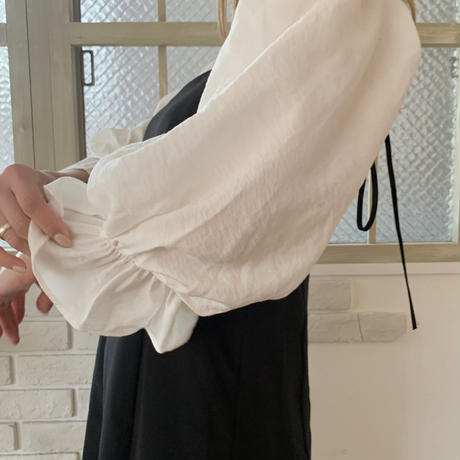 puff sleeve frill blouse[ivory]