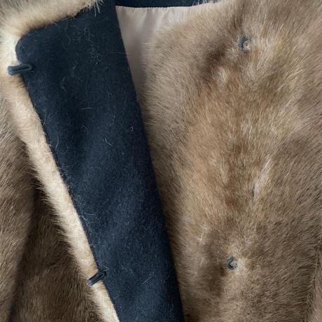 long fake fur coat