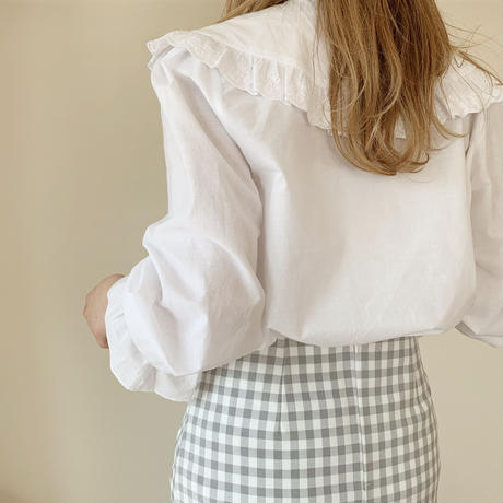 frill cotton blouse
