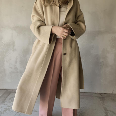 hoody long coat[ivory]