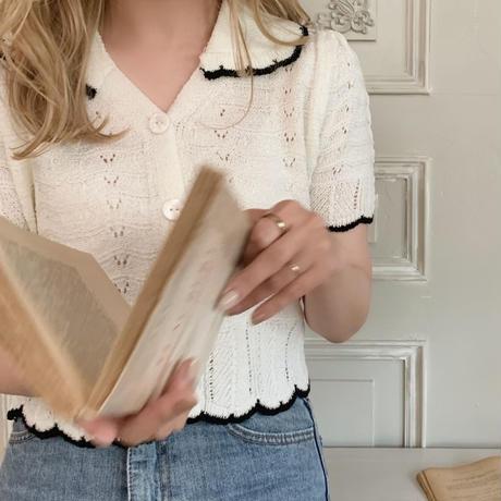 summer knit blouse