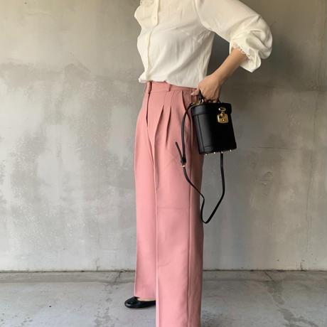 two‐tuck slacks[pink]