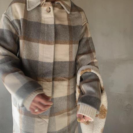 check soutien collar coat[gray]