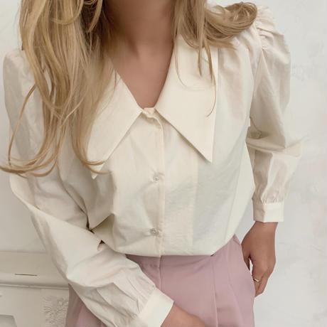 puff sleeve collar shirt[beige]