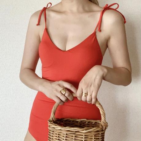 【即納】ribbon strap op swim[red]
