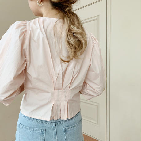 diagonal button blouse