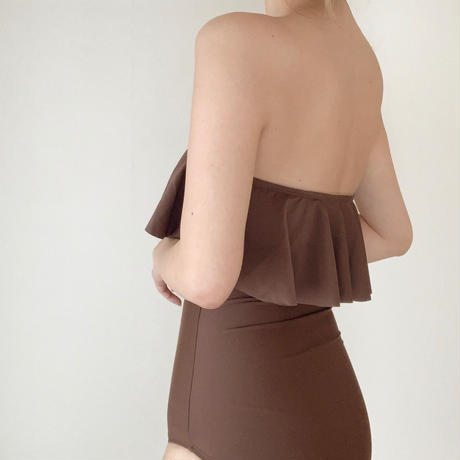 frill bare swim op[brown]