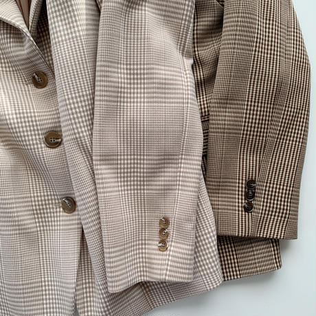 【即納】check jacket[beige]