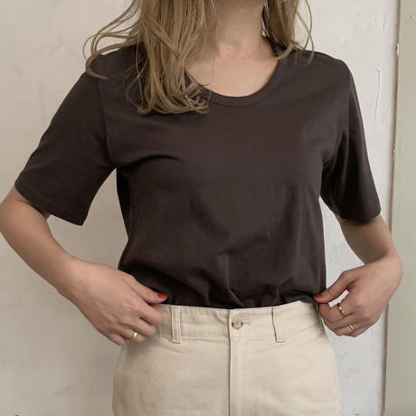 basic T-shirt[ivory / beige / dark gray]