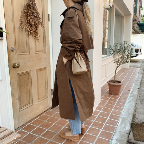 side slit trench coat[brown]
