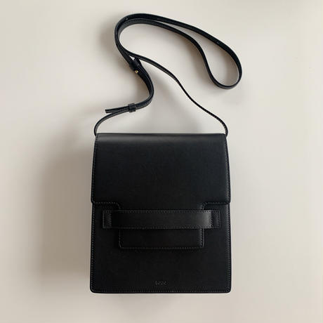 【即納】leather clip bag[black]