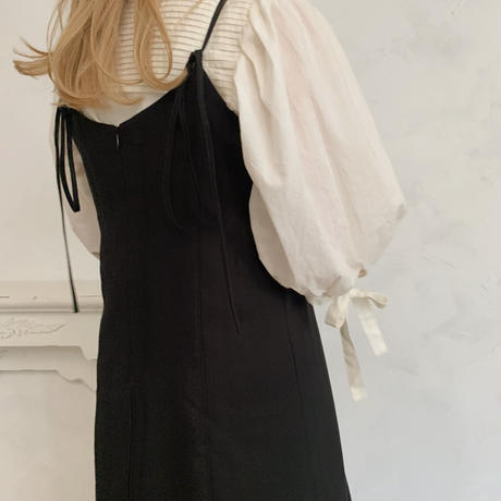 back ribbon cami op[black]