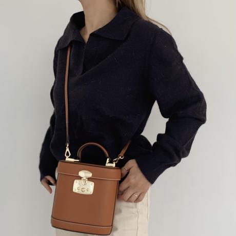 collar knit[navy]