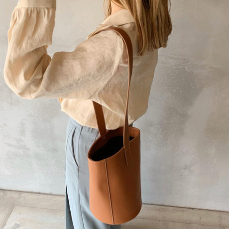 leather bucket[camel]