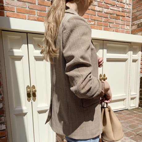 【即納】check jacket[brown]