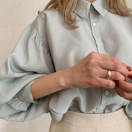 volume puff sleeve shirt[sky blue]