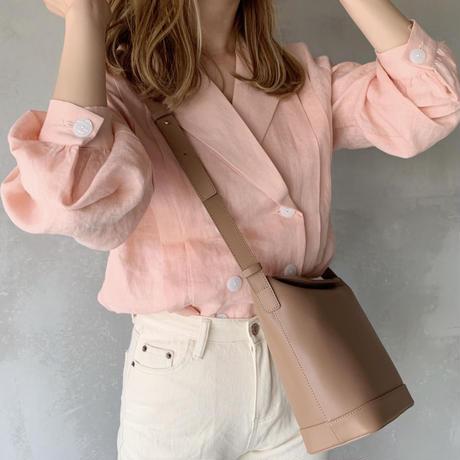 double button linen blouse[pink]