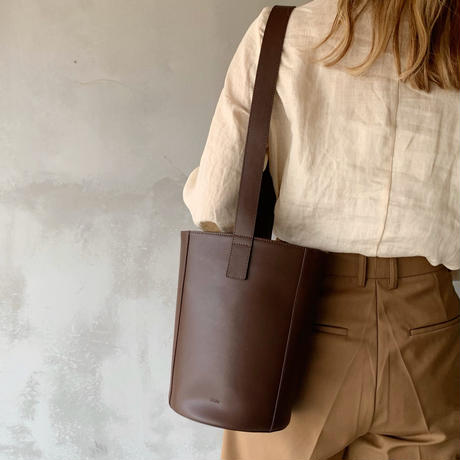 【即納】leather bucket[brown]