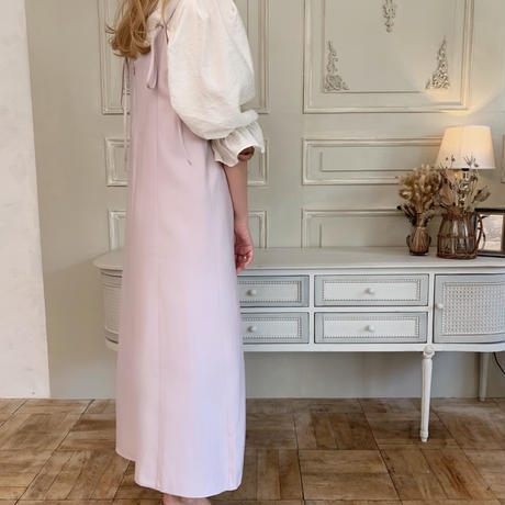 back ribbon cami op[lavender]