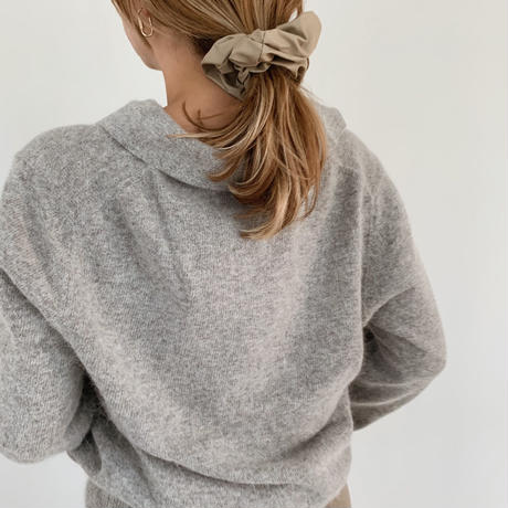 collar knit[gray]