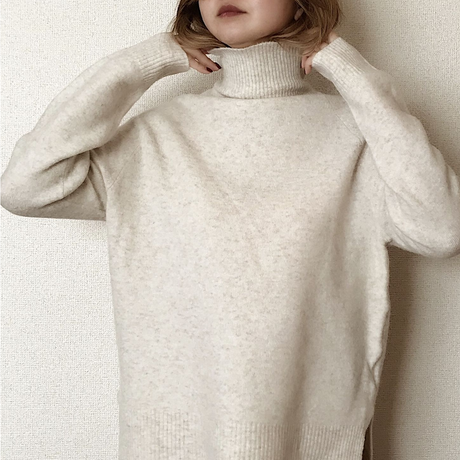 simple turtle knit[ivory]