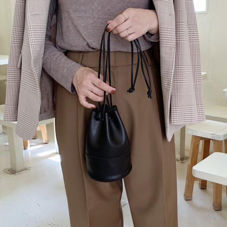 drawstring bag[black]