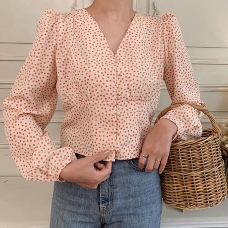 flower print blouse[red]