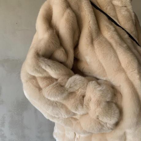 mink touch fur jacket[cream]