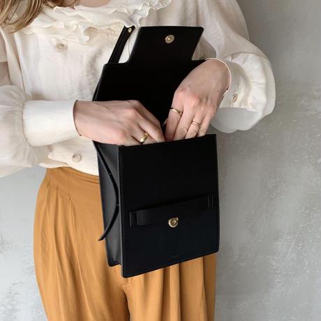leather clip bag[black]