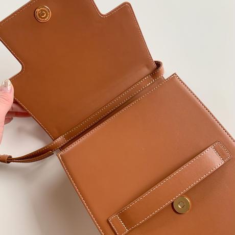 leather clip bag[camel]