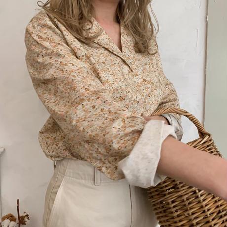 flower print shirt[beige]