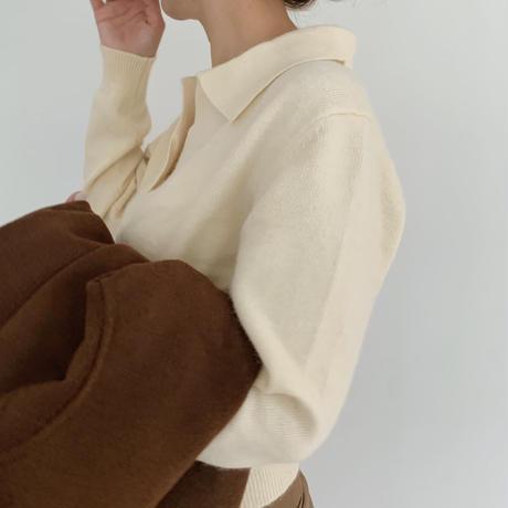 collar knit[yellow]