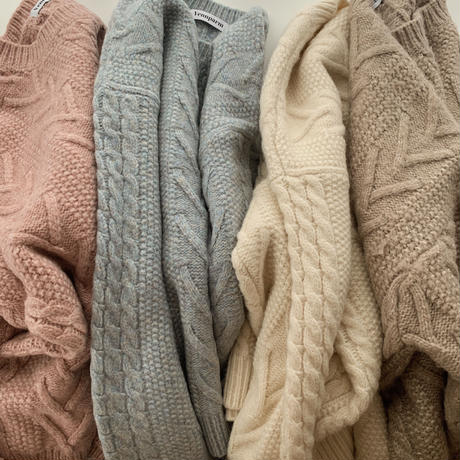 big cable knit[beige]