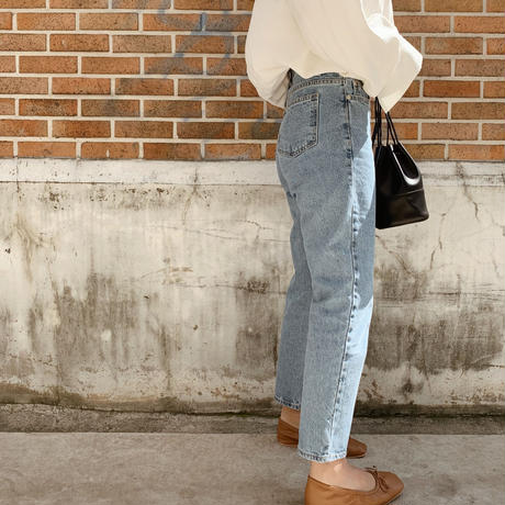 high-waist uncle denim