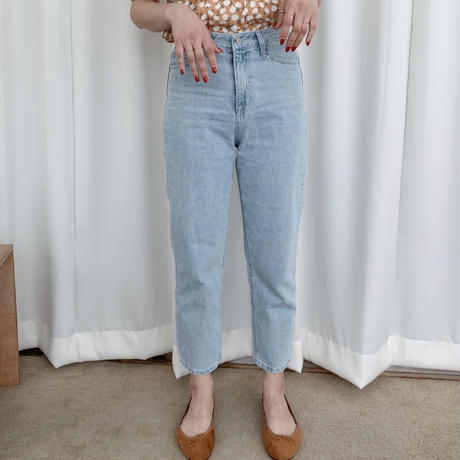 high-waist denim