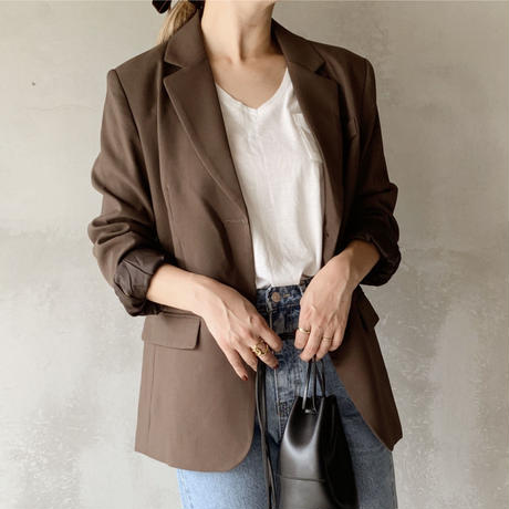 basic tailored jacket[brown]