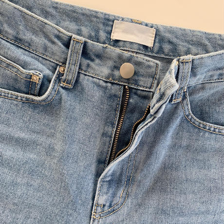 high-waist flare denim